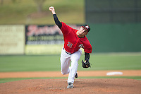 Kannapolis Intimidators relief pitcher Jacob Morris (31) in action against the Lakewood BlueClaws at CMC-Northeast Stadium on May 17, 2015 in Kannapolis, North Carolina.  The Intimidators defeated the BlueClaws 4-1.  (Brian Westerholt/Four Seam Images)