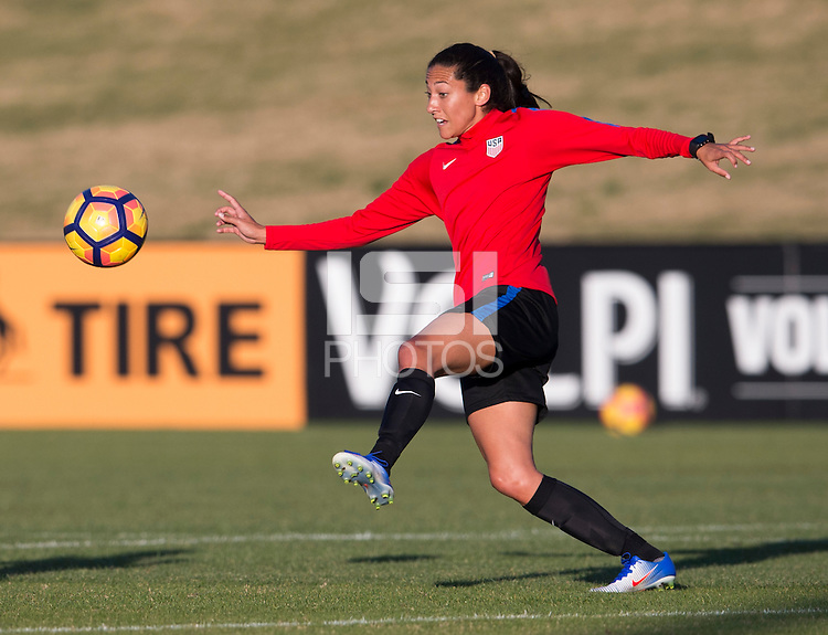 Carson, CA - January 16, 2017: The USWNT held training at StubHub Center during January Camp.