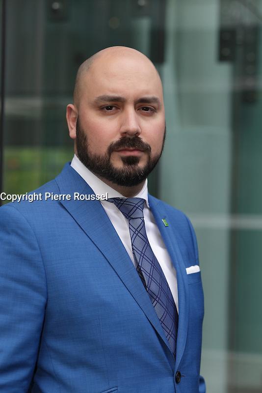 Carlos A. Godoy, Groupe Banque TD<br /> <br />  au Gala Phenicia de la Chambre de Commerce LGBT du Qu&eacute;bec, tenu au Parquet de la Caisse de Depots et Placements du Quebec, jeudi, 26 mai 2016.<br /> <br /> <br /> PHOTO : Pierre Roussel -  Agence Quebec Presse