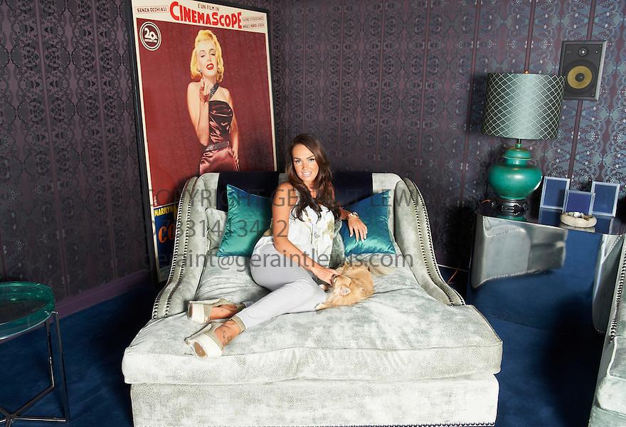 Tamara Ecclestone  at her home in Chelsea. Credit Geraint Lewis