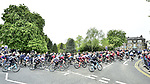 The peloton in action during Stage 2 of the 2019 Tour de Yorkshire, running 132km from Barnsley to Bedale, Yorkshire, England. 3rd May 2019.<br /> Picture: ASO/SWPix | Cyclefile<br /> <br /> All photos usage must carry mandatory copyright credit (© Cyclefile | ASO/SWPix)