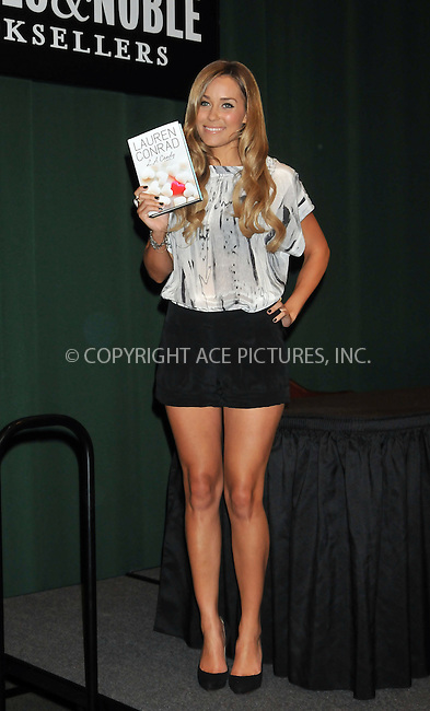 WWW.ACEPIXS.COM . . . . .  ....June 18 2009, New York City....Lauren Conrad signed copies of her book 'L.A. Candy' at Barnes & Noble Tribeca on June 18, 2009 in New York City. ....Please byline: AJ Sokalner - ACEPIXS.COM..... *** ***..Ace Pictures, Inc:  ..tel: (212) 243 8787..e-mail: info@acepixs.com..web: http://www.acepixs.com