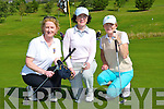 Moira Quinlan Dr Ann Fleming and O'Neill on the old 18th at the Castleisland Golf Course classic on Saturday