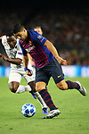 UEFA Champions League 2018/2019 - Matchday 3.<br /> FC Barcelona vs FC Internazionale Milano: 2-0.<br /> Kwadwo Asamoah vs Luis Suarez.