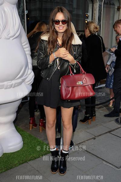 Atlanta De Cadanet arrives at the Mulberry catwalk show as part of London Fashion Week SS13, Claridges, London. 18/09/2012 Picture by: Steve Vas / Featureflash
