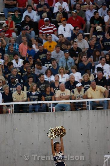 Trent Nelson  |  The Salt Lake Tribune.University of Utah vs. Pitt, college football, Thursday, September 2, 2010 at Rice-Eccles Stadium in Salt Lake City. pitt cheer squad