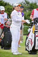 Inbee Park (KOR) looks over her tee shot on 9 during round 2 of  the Volunteers of America Texas Shootout Presented by JTBC, at the Las Colinas Country Club in Irving, Texas, USA. 4/28/2017.<br /> Picture: Golffile | Ken Murray<br /> <br /> <br /> All photo usage must carry mandatory copyright credit (&copy; Golffile | Ken Murray)