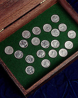 PROBABILITY: QUARTERS SHOWING HEADS & TAILS<br />