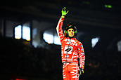 3rd February 2019, Palau Sant Jordi, Barcelona, Spain; FIM X Trial World Championships; Jeroni Fajardo of the Gas Gas Team salutes the fans after the Trial Barcelona