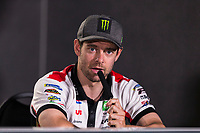 31st October 2019; Sepang Circuit, Sepang Malaysia; MotoGP Malaysia, Practice Day;  The number 35 LCR Honda Castrol rider Cal Crutchlow during the press conference - Editorial Use