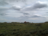 Red pyramid of Earth in Wyoming.