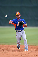 New York Mets Jonathan Johnson (3) during practice before a minor league spring training game against the St. Louis Cardinals on April 1, 2015 at the Roger Dean Complex in Jupiter, Florida.  (Mike Janes/Four Seam Images)