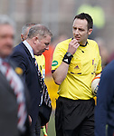 Ally McCoist and ref Barry Cook