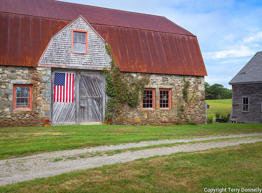 Bar Harbor, Maine:<br /> Historic Stone Barn Farm (1820)