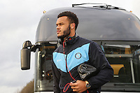 Aaron Holloway of Wycombe Wanderers, arrives at the ground ahead of the Sky Bet League 2 match between Luton Town and Wycombe Wanderers at Kenilworth Road, Luton, England on 26 December 2015. Photo by David Horn.