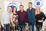 Cardiac Response Unit, Killarney celebrated 1st Year Anniversary in the Plaza Hotel, Killarney last Sunday. Pictured l-r Damien Baker, Fiona mcMahon, Leo O'Connor, Kevin O'Brien and  Dee Nolan.