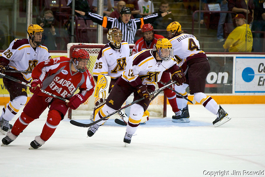 8 Oct 10:  The University of Minnesota plays host to Sacred Heart in a non-conference matchup at Mariucci Arena in Minneapolis, MN.