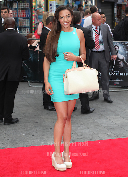 Amal Fashanu arriving for 'The Wolverine' premiere, Empire Leicester Square, London. 16/07/2013 Picture by: Alexandra Glen / Featureflash