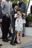 Miyu Sasaki and Jyo Kairi attend the photocall for 'Shoplifters (Manbiki Kazoku)' during the 71st annual Cannes Film Festival at Palais des Festivals on May 14, 2018 in Cannes, France.<br /> CAP/GOL<br /> &copy;GOL/Capital Pictures