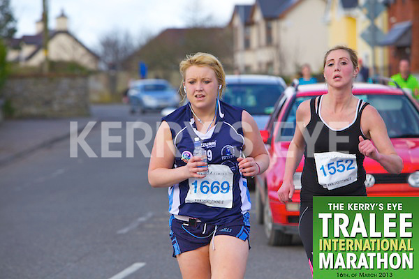 1669 Kate Ring and 1552 Ailish O'Connor who took part in the Kerry's Eye, Tralee International Marathon on Saturday March 16th 2013.