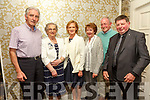 At the Fundraising Dance in aid of Recovery Haven Kerry Cancer Support House at Earl of Desmond Hotel on Friday were Jimmy Walsh, Eileen Walsh, Noreen Healy, Margaret Culloty, Padraig Culloty with song writer  Ted Leizcyneski