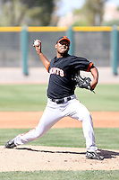 Osiris Matos, San Francisco Giants 2010 minor league spring training..Photo by:  Bill Mitchell/Four Seam Images.