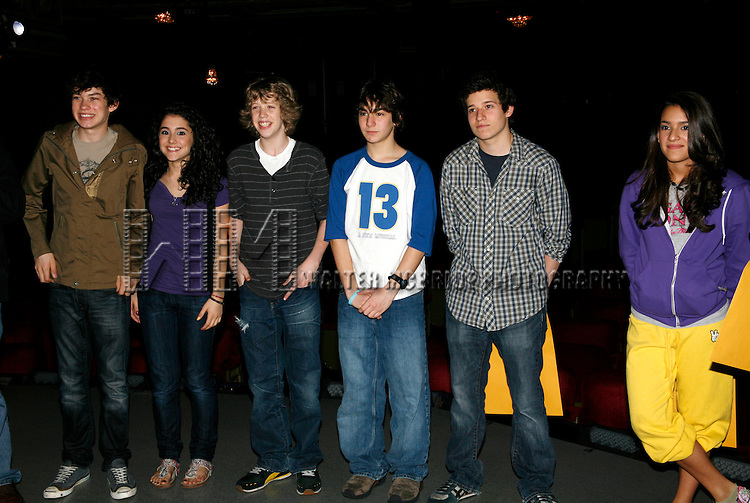 Cast Members featuring: Graham Phillips, Ariana Grande, Eamon Foley, Aaron Simon Gross, Zac Coe <br /> attending for the Opening Performance Gypsy Robe Ceremony  for  &quot;13&quot;  at the Bernnard B. Jacobs Theatre in New York City.<br /> October 5, 2008