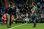 Real Sociedad's coach Asier Garitano and Adnan Januzaj during La Liga match between Real Madrid and Real Sociedad at Santiago Bernabeu Stadium in Madrid, Spain. January 06, 2019. (ALTERPHOTOS/A. Perez Meca)<br />  (ALTERPHOTOS/A. Perez Meca)