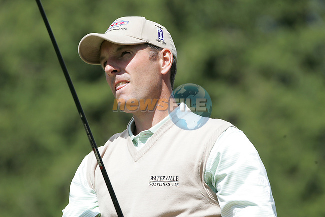 David Higgins tees off on the 1st hole during the final round of the Irish Open on 20th of May 2007 at the Adare Manor Hotel & Golf Resort, Co. Limerick, Ireland. (Photo by Eoin Clarke/NEWSFILE)