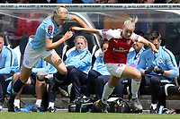 Esme Morgan of Manchester City Women and Beth Mead of Arsenal Women during Arsenal Women vs Manchester City Women, FA Women's Super League Football at Meadow Park on 11th May 2019