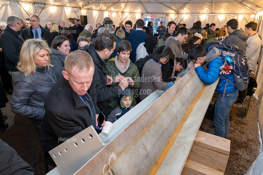 New Science Building at Yale University, Topping Off Ceremony and Signing of the Beam.