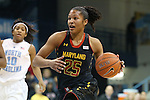 03 January 2013: Maryland's Alyssa Thomas (25). The University of North Carolina Tar Heels played the University of Maryland Terrapins at Carmichael Arena in Chapel Hill, North Carolina in an NCAA Division I Women's Basketball game. UNC won the game 60-57.