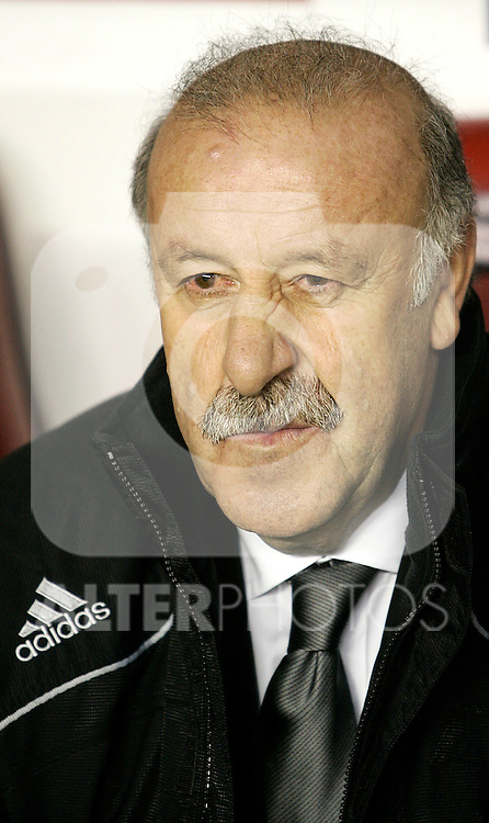 Spain´s coach Vocente del Bosque before an international friendly, February 11, 2009. (ALTERPHOTOS).