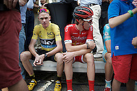 pre-race boredom by Chris Froome (GBR/SKY)<br /> <br /> Post-Tour Criterium Mechelen 2015