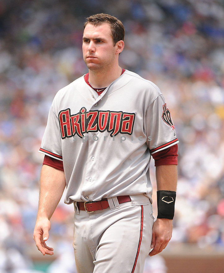 PAUL GOLDSCHMIDT (44) of the Arizona Diamondbacks in action during the Diamondbacks game against the Chicago Cubs on July 15, 2012 at Wrigley Field in Chicago, IL. The Cubs beat the Diamondbacks 3-1.
