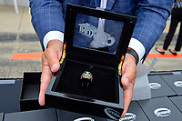 Verizon IndyCar Series<br /> Indianapolis 500 Drivers Meeting<br /> Indianapolis Motor Speedway, Indianapolis, IN USA<br /> Saturday 27 May 2017<br /> Starter's ring for the polesitter.<br /> World Copyright: F. Peirce Williams