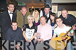 The contestants who took part in the Killarney Stars of our Bars grand final in Squires bar on Friday night was front row l-r: Rory Maher, Ann Marie Nelligan, Sean Murphy Proprietor, Colm O'Rourke. Back row Ken Day (Judge), Gerry Adams, Aoife Sheahan, Ray Sullivan, Catherine Allman and Cathel Cronin