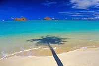 The beautiful Moku Lua islands located on the windward side of Oahu near Lanikai Beach and Kailua Beach.