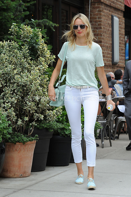 WWW.ACEPIXS.COM<br /> June 26, 2013...New York City <br /> <br /> Karolina Kurkova walking in TriBeCa on June 26, 2013 in New York City.<br /> <br /> Please byline: Kristin Callahan... ACE<br /> Ace Pictures, Inc: ..tel: (212) 243 8787 or (646) 769 0430..e-mail: info@acepixs.com..web: http://www.acepixs.com