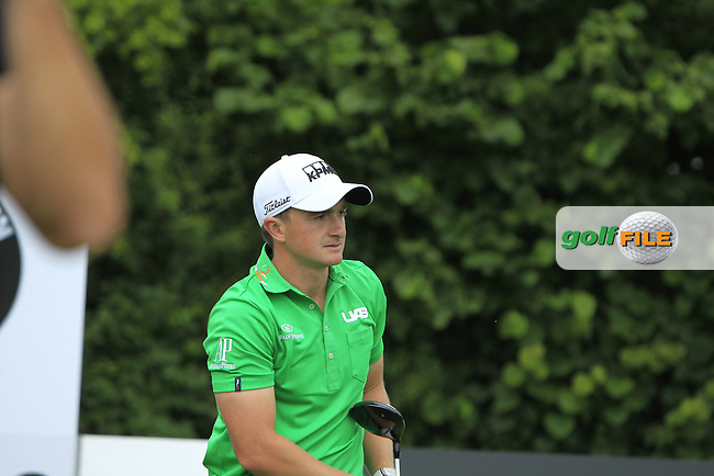 Paul Dunne (IRL) on the 13th tee during Round 4 of the 2016 BMW International Open at the Golf Club Gut Laerchenhof in Pulheim, Germany on Sunday 26/06/16.<br /> Picture: Thos Caffrey | Golffile