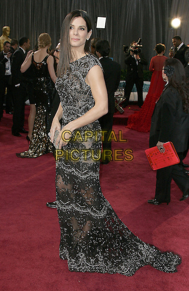 Sandra Bullock.85th Annual Academy Awards held at the Dolby Theatre at Hollywood & Highland Center, Hollywood, California, USA..February 24th, 2013.oscars full length black dress beads beaded lace .CAP/ADM.©AdMedia/Capital Pictures.