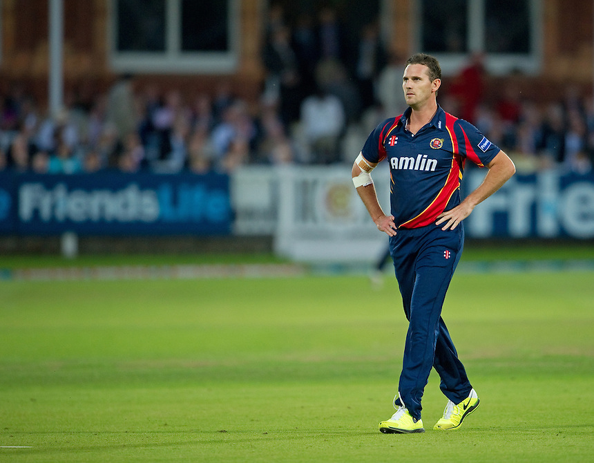 Essex Eagles' Shaun Tait in action against Middlesex Panthers<br /> <br />  (Photo by Ashley Western/CameraSport) <br /> County Cricket - Friends Life t20 2013 - Middlesex v Essex - Thursday 04th July 2013 - Lord's, London <br /> <br />  &copy; CameraSport - 43 Linden Ave. Countesthorpe. Leicester. England. LE8 5PG - Tel: +44 (0) 116 277 4147 - admin@camerasport.com - www.camerasport.com