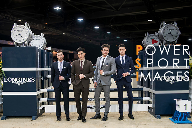 Guests at the arena prior to the Longines Speed Challenge during the Longines Masters of Hong Kong at AsiaWorld-Expo on 10 February 2018, in Hong Kong, Hong Kong. Photo by Diego Gonzalez / Power Sport Images