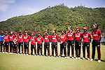 Players of Hong Kong pose for photos during their ICC 2016 Women's World Cup Asia Qualifier match between China and Hong Kong on 10 October 2016 at the Hong Kong Cricket Club in Hong Kong, China. Photo by Victor Fraile / Power Sport Images