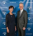Lori Holland, incoming vice chair and Jim Ryan, incoming chair, DePaul University board of trustees. (DePaul University/Jamie Moncrief)