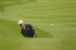 Rhys Enoch chips onto the 4th green during the second round of the ISPS Handa Wales Open 2013 at the Celtic Manor Resort<br /> <br /> 30.08.13<br /> <br /> ©Steve Pope-Sportingwales
