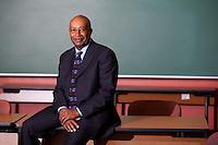Dr. Howard Rasheed, photographed at the University of North Carolina at Wilmington.