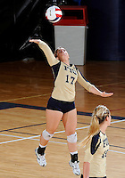 Florida International University women's volleyball player Carolyn Fouts (17) plays against the University of South Alabama.  FIU won the match 3-0 on October 30, 2011 at Miami, Florida. .