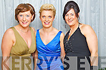 Pictured at the Solas na Coinnile Ball at the Earl of Desmond Hotel on Saturday, from left: Eileen Kennedy (Caragh Lake), Deirdre O'Donghue (Killarney), Catriona Moriarty (Killorglin).