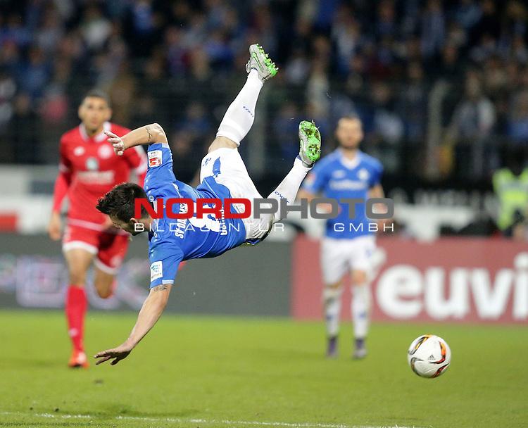 1. Liga  2015/2016, 08. Spieltag Hinrunde, SV Darmstadt 98 vs. FSV Mainz 05<br /> Flugeinlage von Jerome Gondorf (Darmstadt)<br /> <br /> Foto &copy; nordphoto /  Bratic